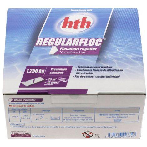 Regularfloc - 10 cartouches de HTH - Produits chimiques