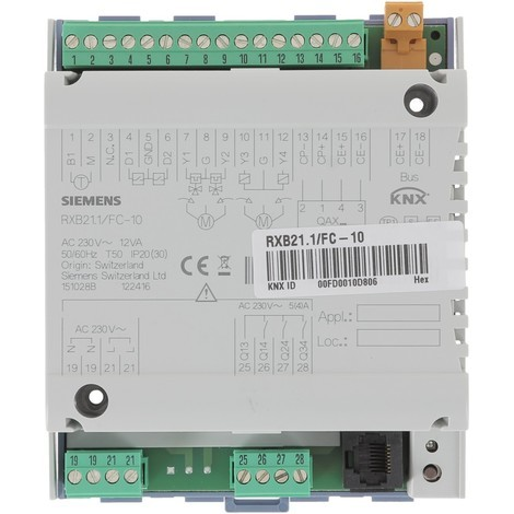Régulateur d'ambiance communication intégrée Réf RXB21.1/FC-10 SIEMENS