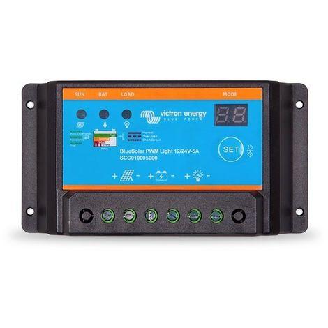 Régulateur de charge PWM 5A Light - 12/24V BlueSolar - Victron Energy
