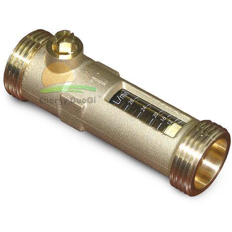 """Régulateur de débit avec débitmètre 20-70 lt/m 1""""1/2 M x 1""""1/2 F"""