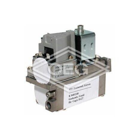 """regulateur de gaz combine double VR 4705 R 1/2"""" VR 4705 C 4005, Ouverture lente 2-20 mbar Domaine de demarrage 5 mbar"""