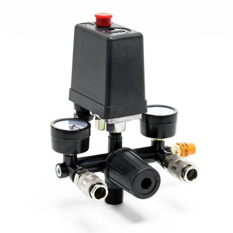 Régulateur de pression avec pressostat pour compresseur Pressostat 2 afficheurs