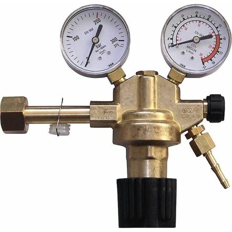 Regulateur de pression de bouteille pour Argon + dioxyde de carbonne