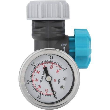 Régulateur de Pression d'eau réglable avec manomètre Contrôleur d'irrigation de Jardin à Effet de Serre Réducteur de Pression d'eau réglable sans Plomb en Laiton avec manomètre