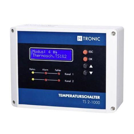 Régulateur de température H-Tronic 1114490 1114490 Pt1000 -99 à +850 °C Relais 3 A (L x l x h) 60 x 120 x 160 mm 1 pc(s)