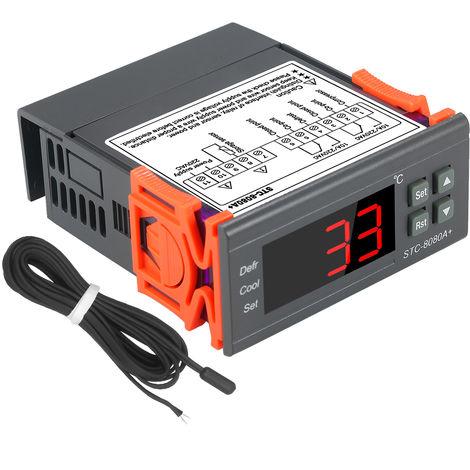 Regulateur Numerique De Temperature Stc-8080A + Refrigerateur Thermostat Pour Refrigerateur Avec Degivrage Automatique Ntc Capteur Sonde 220 V