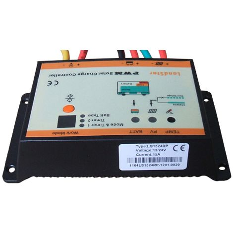 Régulateur solaire 10A 12V / 24V waterproof