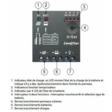 Régulateur solaire EP5 5A 12V automatique