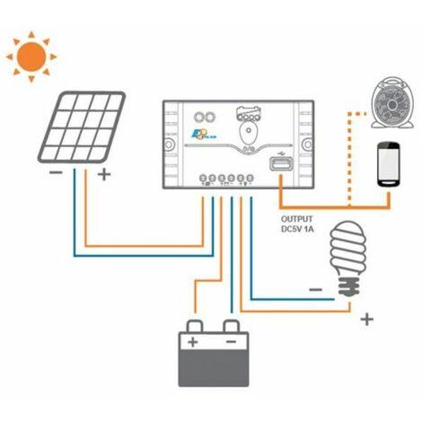 Régulateur solaire USB LS0512EU 5A 12V Landstar EU