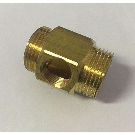 "Rehau 264639-001 - Bloque de terminales 1 ""M - 3/4"" F media de salida ""F - Collector 1000 - Brass"