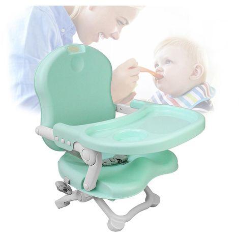Réhausseur de chaise pour enfant, Rehausseur Bébé, Vert, Hauteur: 38/42/46/50 cm