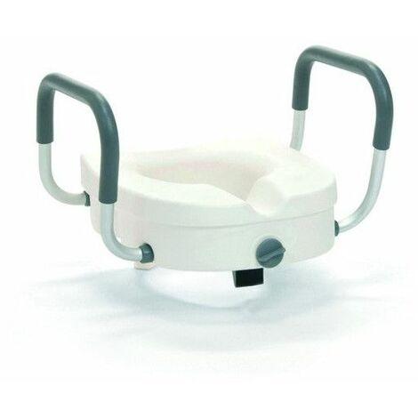 Rehausseur de toilettes avec accoudoirs Tina - 38,5 cm - Blanc