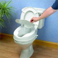 Rehausseur de WC avec abattant 10 cm - 41 cm - Blanc