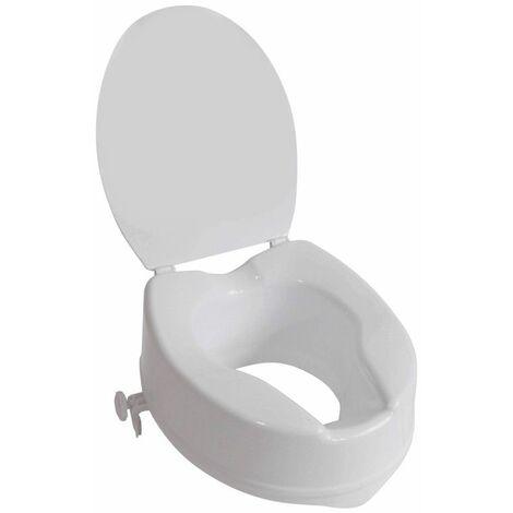 Rehausseur de WC IBIZA avec abattant 15 cm - 40 cm - Blanc