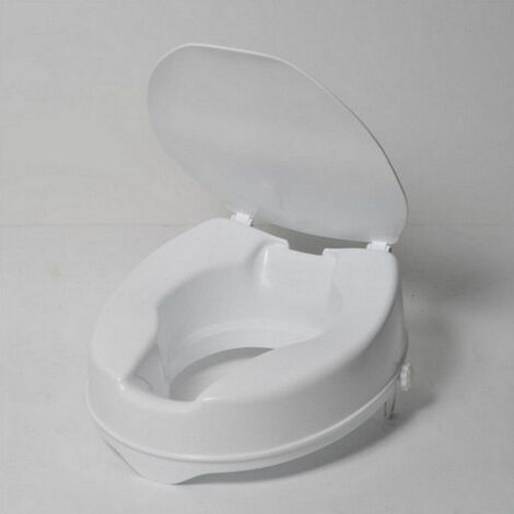 Rehausseur de WC IBIZA avec couvercle 10 cm - 40 cm - Blanc
