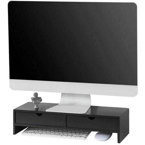 Réhausseur d'écran Support de Moniteur écran Ergonomique Support pour écran d'ordinateur Universal,SoBuy® BBF02-Sch