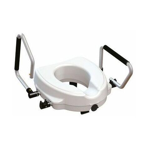 Réhausseur WC avec accoudoirs relevables - 45 cm - Blanc