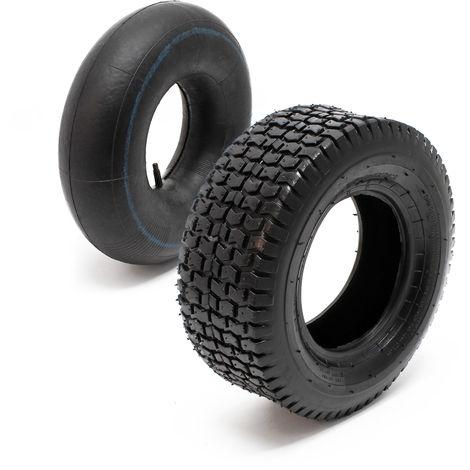 2 neue AS Reifen 15x6.00-6 mit 2 Schläuchen für Rasentraktor Aufsitzmäher
