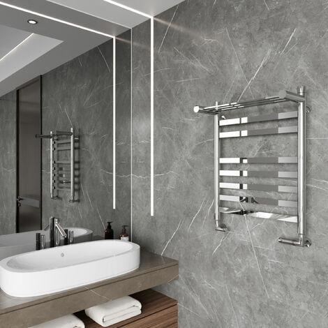 Reina Alento Designer Heated Towel Rail 720mm H x 530mm W Polished Stainless Steel