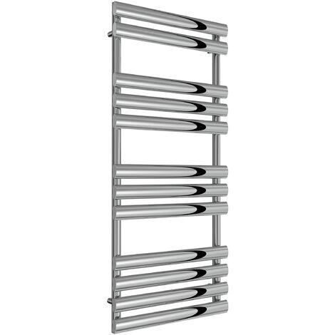 Reina Arbori Steel Chrome Designer Towel Radiator 1130mm x 500mm - Electric Only - Standard