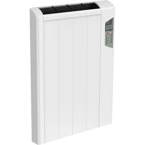 Reina Arlec Aluminium White Horizontal Designer Radiator Electric 565mm x 414mm