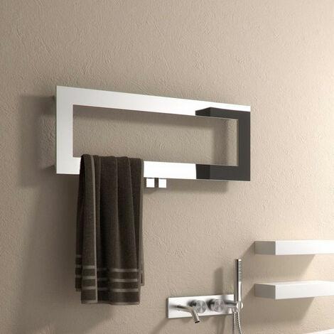 Reina Bivano Designer Heated Towel Rail 300mm H x 800mm W Chrome