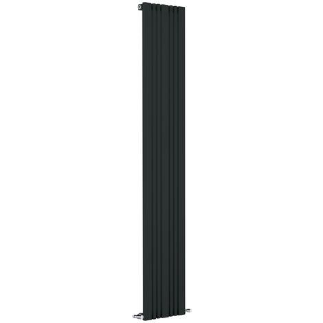 Reina Bonera Anthracite Vertical Designer Radiators 1800mm x 324mm Single Panel