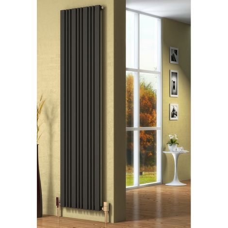 Reina Bonera Steel Anthracite Vertical Designer Radiator 1800mm x 324mm