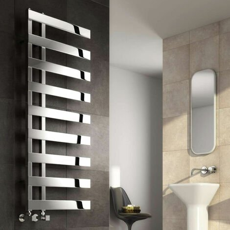 Reina Capelli Heated Towel Rail 1240mm H x 500mm W Polished Stainless Steel