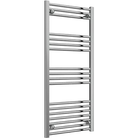 Reina Capo Flat Steel Heated Towel Rail 1200mm x 500mm Chrome Dual Fuel Standard