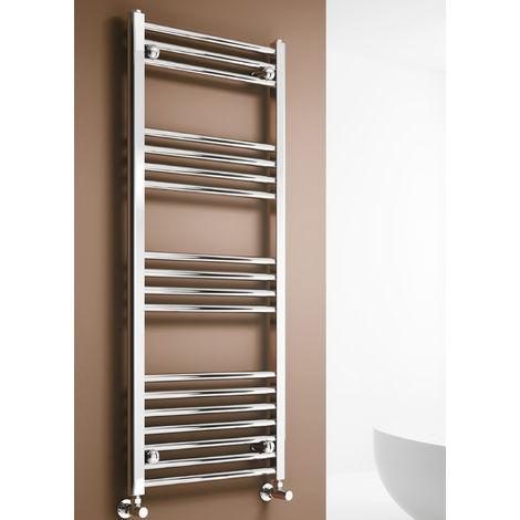 Reina Capo Flat Steel Heated Towel Rail 1600mm x 400mm Chrome Dual Fuel Standard