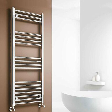 Reina Capo Straight Heated Towel Rail 1200mm H x 400mm W Chrome