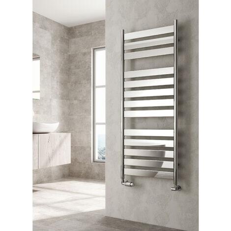 Reina Carpi Flat Panel Heated Towel Rail 1200mm H x 300mm W Chrome