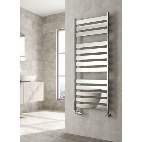 Reina Carpi Flat Panel Heated Towel Rail 1300mm H x 500mm W Chrome
