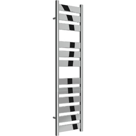 Reina Carpi Steel Chrome Designer Heated Towel Rail 1200mm x 300mm Electric Only - Thermostatic