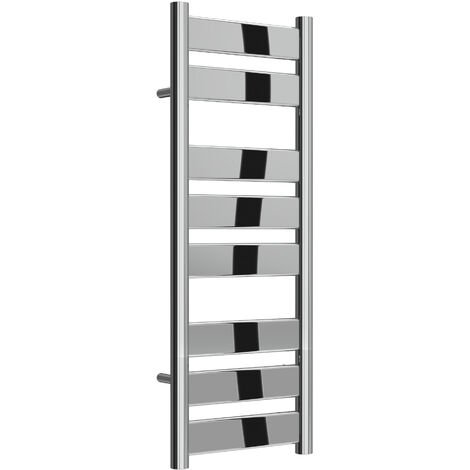 Reina Carpi Steel Chrome Designer Heated Towel Rail 800mm x 300mm Electric Only - Thermostatic