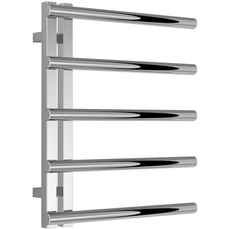 Reina Celico Polished Stainless Steel Designer Heated Towel Rail 585mm x 500mm Central Heating