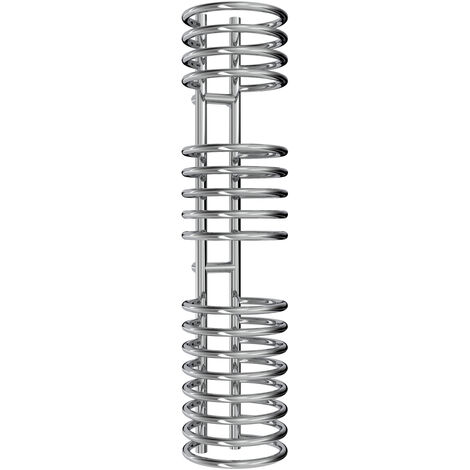 Reina Claro Steel Chrome Designer Heated Towel Rail 1200mm x 300mm Electric Only - Thermostatic