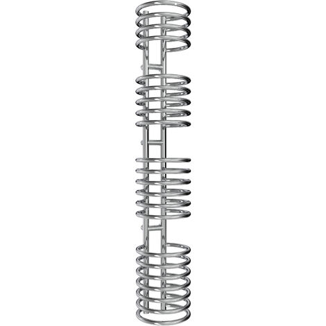 Reina Claro Steel Chrome Designer Heated Towel Rail 1600mm x 300mm Electric Only - Standard
