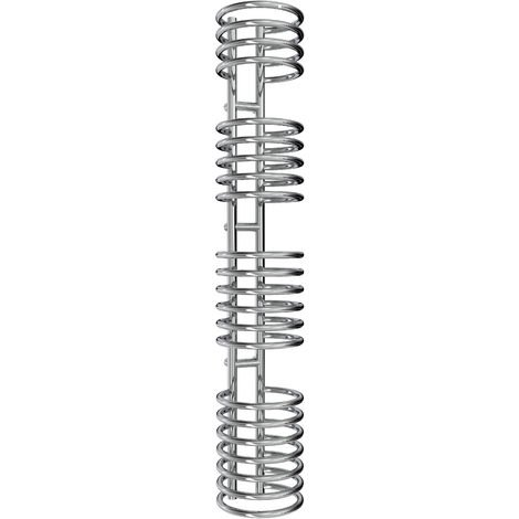 Reina Claro Steel Chrome Designer Heated Towel Rail 1600mm x 300mm Electric Only - Thermostatic