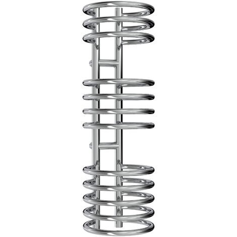Reina Claro Steel Chrome Designer Heated Towel Rail 900mm x 300mm Electric Only - Standard