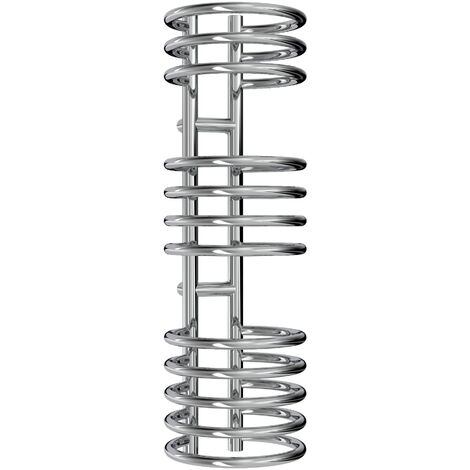 Reina Claro Steel Chrome Designer Heated Towel Rail 900mm x 300mm Electric Only - Thermostatic