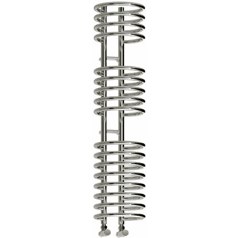 Reina Claro Steel Contemporary Vertical Bathroom Towel Rail and Radiator - Chrome