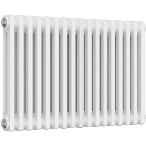 Reina Colona Steel White Horizontal 2 Column Radiator 500mm x 785mm Central Heating