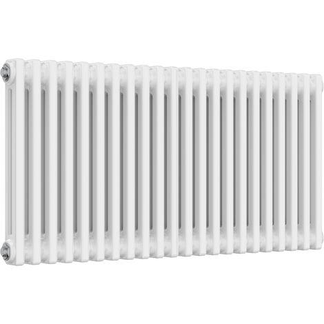 Reina Colona Steel White Horizontal 3 Column Radiator 500mm x 1010mm Central Heating