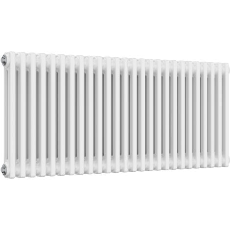 "main image of ""Reina Colona Steel White Horizontal 3 Column Radiator 500mm x 1190mm Central Heating"""