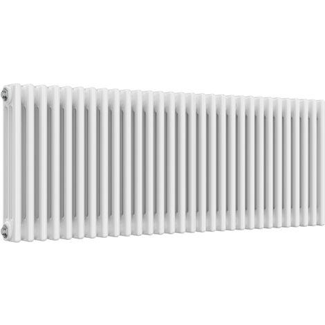 Reina Colona Steel White Horizontal 3 Column Radiator 500mm x 1370mm Central Heating