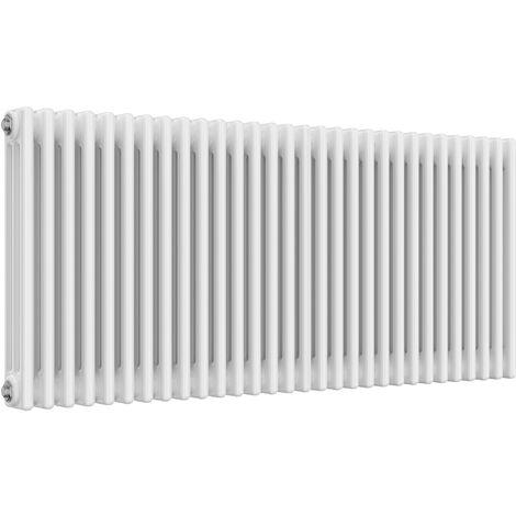 Reina Colona Steel White Horizontal 4 Column Radiator 600mm x 1370mm Central Heating