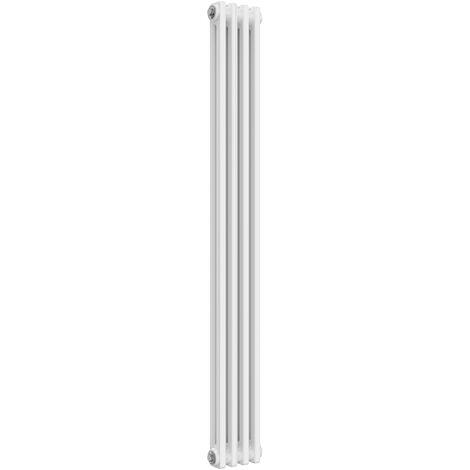 Reina Colona Traditional White Vertical Column Radiator 1500mm x 200mm 2 Column