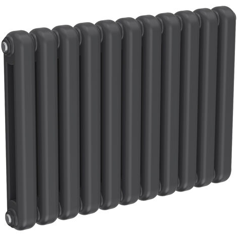 Reina Coneva Steel Anthracite Horizontal Designer Radiator 550mm x 790mm Central Heating